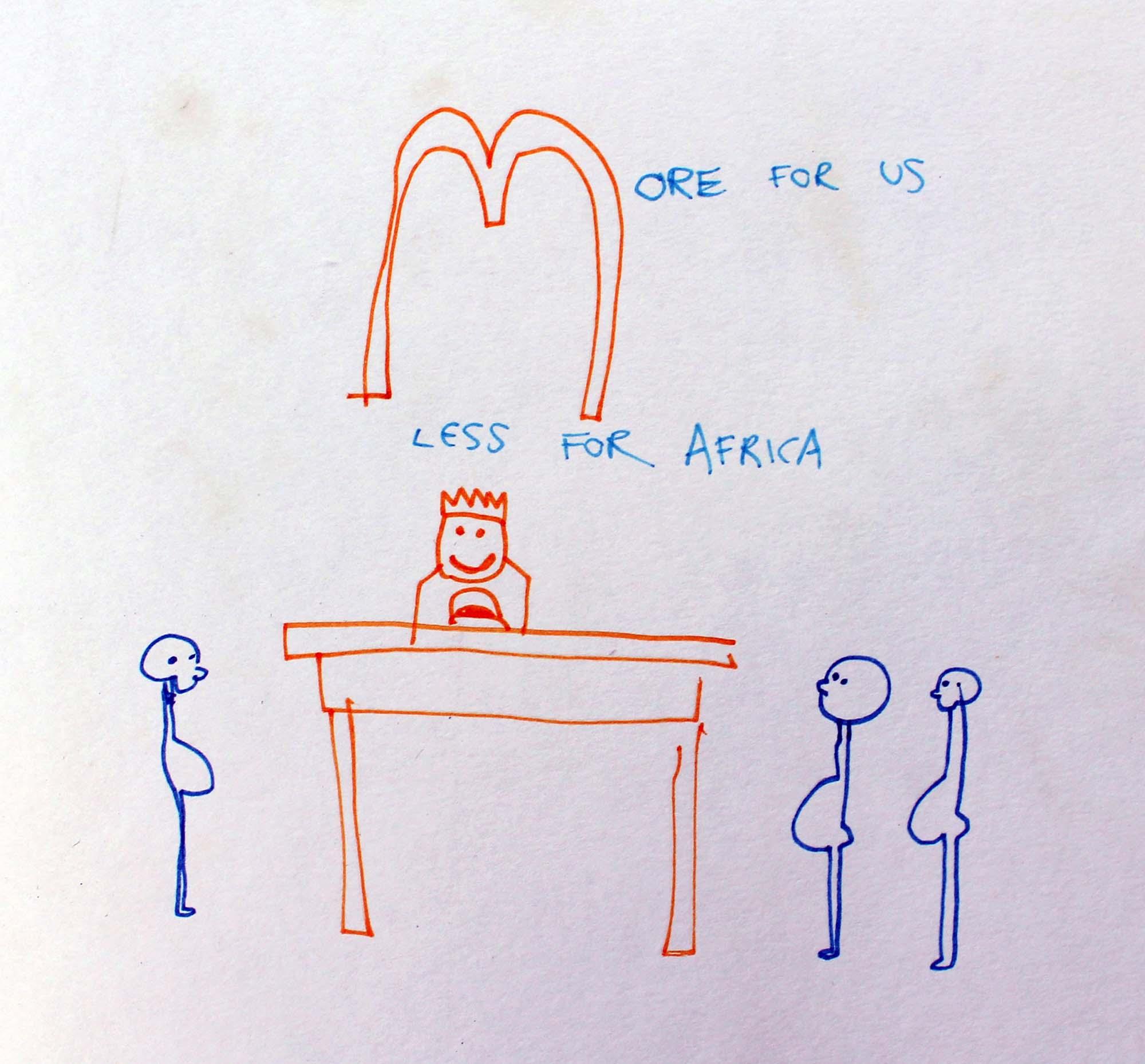 illustration of World poverty