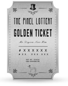 What the Pixel Lottery golden ticket looks like